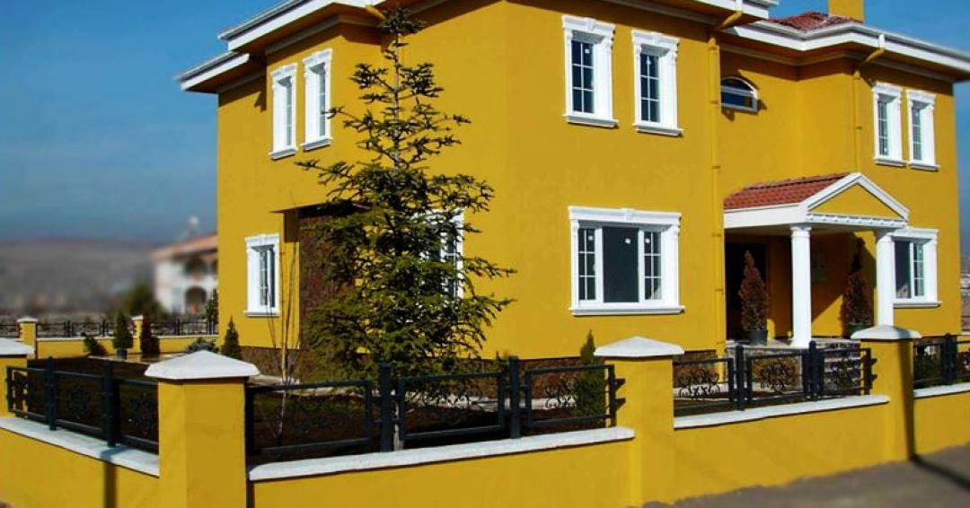 پوشش نمای ساختمان با رنگهای دکوراتیو