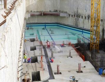 سازه نگهبان با استفاده از دیواره دیافراگمی