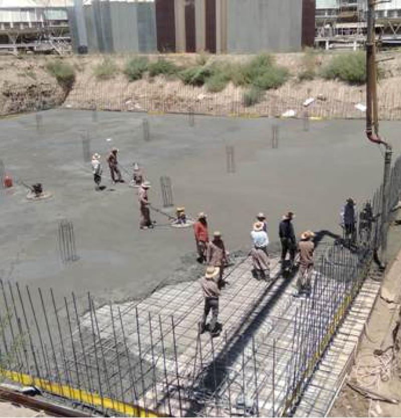 اجرای مخزن 10 هزار مترمکعبی ملاس خام